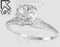 Anillo de Diamantes, realizado en 3D.