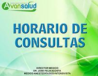 horario de consulta mes de marzo, avansalud