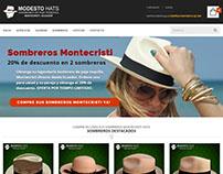 Modesto Hats Virtual Shop - Website redesing