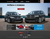 Layout oficial Website Institucional Dodge Brasil 2016.