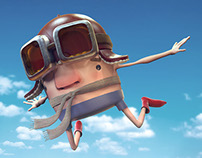 Fly Away 3D Illustration
