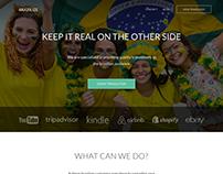 Brazilize Landing Page Design