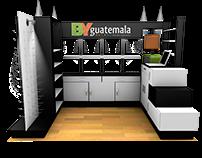 By Guatemala -Diseño de Mueble 3D y logotipo.