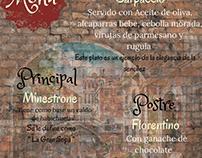 menu culinario