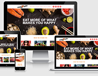Website for Crazy Poke Restaurant @ Miami