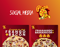 Postagens para Facebook e Instagram - Pizza da Casa