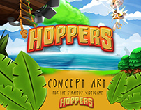 """Hoppers"" Video Game Concept art"