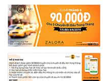 Easy Taxi Vietnam's flyer designs