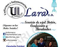 "Flyer ""Uniformes Lara"""