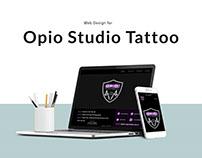 Responsive Web Design for Opio Studio Tattoo