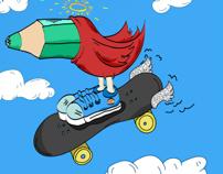 SkateBird on the Sky