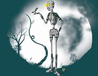 Estampa: Natureza robótica
