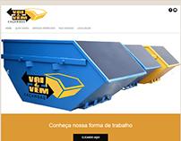 Site desenvolvido para cliente Caçambas vai e vem