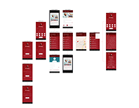 Design app interface blood ux ui