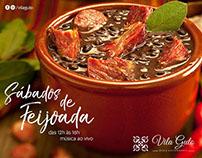 Redes Sociais - Restaurante Vila Guto