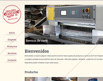 Wordpress site for a printing Company