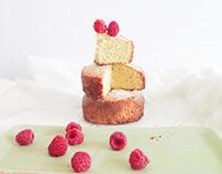 Lemon and raspberry cake