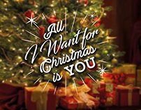 All I Want for Christmas is You - Lettering