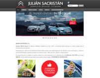 "Website ""Julian Sacristán."""