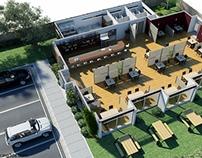 Planta 3D - Restaurante La Carbonera