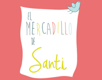 Logo y Flyers Mercadillo de Santi