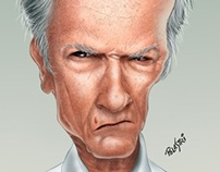 Caricatura - Clint Eastwood (Salão do Humor)