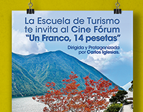 "Poster Cine Fórum ""Un Franco, 14 Pesetas"""