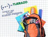 Campaña escolar Tiendas Tijerazo