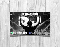 DJ Fernando Barbosa business card