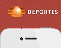 iOS App iPhone Televisa Deportes