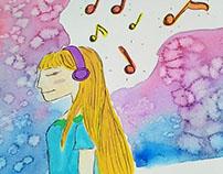 Watercolor & Dreams - Illustration