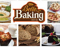 Flyer y brochure para BelleBaking Miami
