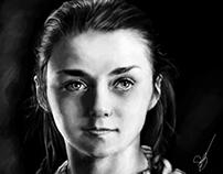 Arya Stark - a Dançarina D'Água - Digital Art