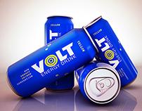 3D VOLT energy drink, Modeling & Rendering.