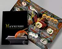 Menú para Maysushi made by me in Cinetico.
