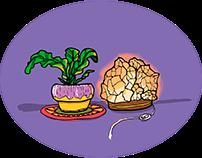 Plants & Crystals Designs