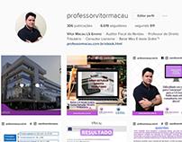 Perfil Instagram Professor Macau