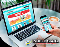 Diseño web responsive, sitio web ecomerce indellsac
