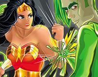 La Super Mujer Maravilla Vs. Flu - Illustration