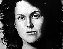Ellen Ripley - desenho a lápis