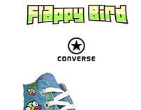 Afiche Flappy Bird + Converse