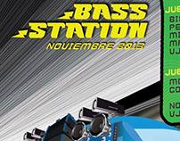 Flyer/Poster BASS STATION segunda edicion