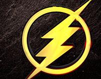 Logo The Flash Con Fluidos 3d