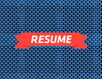 Resume / Curriculum Vitae