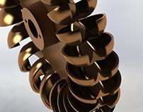 Modelación y renderizado de una turbina peltón