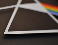 The dark side of the moon logo papercraft