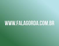 Desenho de layout para blog Fala Gorda