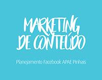 Planejamento Facebook APAE Pinhais
