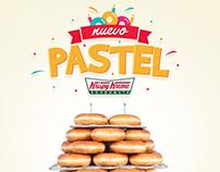 Pastel Krispy Kreme