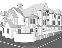 Modelagem 3D Ashbury & Oak, Vancouver - Canadá